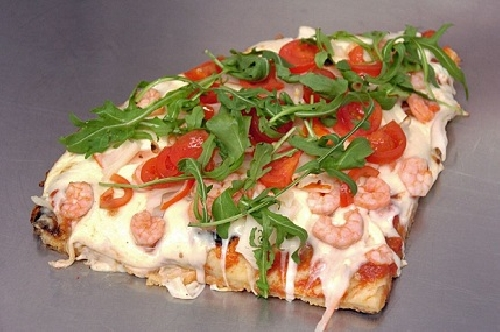 Ricetta pizza Gamberetti e Rucola Foto