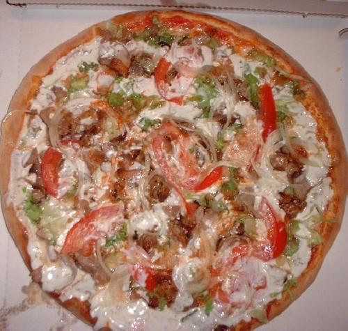 Ricetta pizza Kebab con Salsa allo Yogurt Foto
