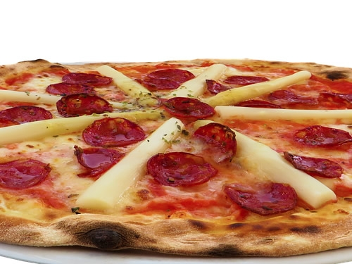 Il cartone della pizza è fatto di pizza a Brooklyn Foto