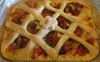 Ricetta Pizza Crostata alla Mediterranea Foto