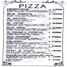menu pizze famose speciali foto